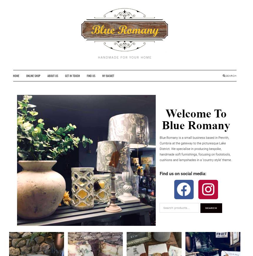 blue romany penrith website